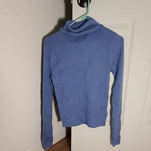Pretty blue turtleneck sweater